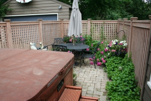Patio with mint